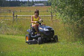 Basic characteristics of riding lawn mowers