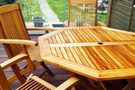 Diverse patio furniture on sale